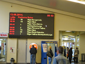 Photo: Bus to Vilnius leaves from Platform 1A