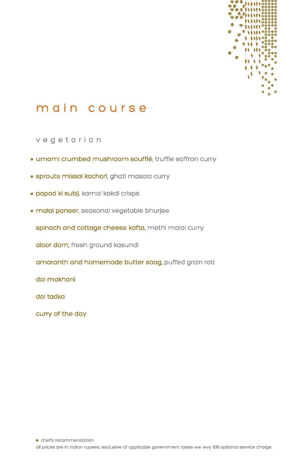 Masala Library menu 8
