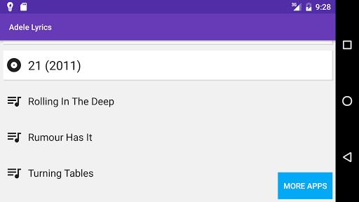 Adele Lyrics All Songs Apk 1 0 Download Only Apk File