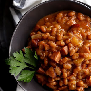 Slow Cooker Smoky Baked Beans.