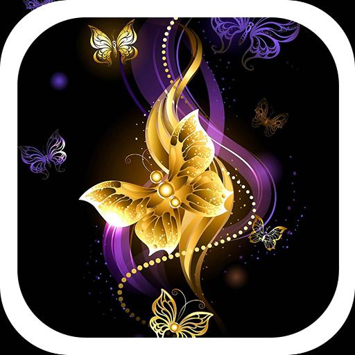Golden diamond butterfly theme
