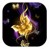Golden diamond butterfly theme