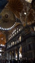 Photo: Interior of Aya Sofia, Christian art is being uncovered