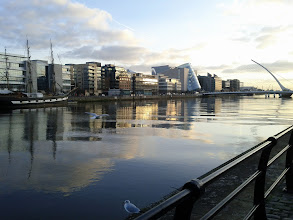 Photo: Walking to the Dublin Convention Center. There's a boat!