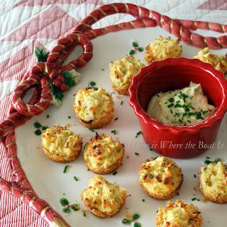Parmesan-Crusted Crab Cake Bites