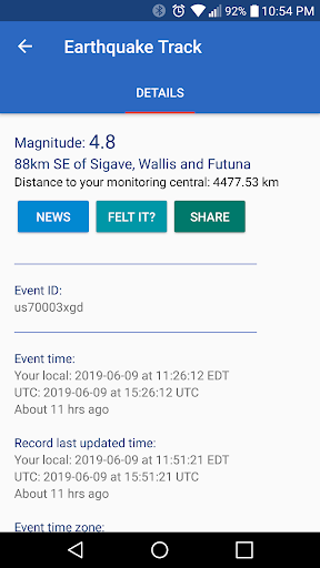 Earthquake Track screenshot 3