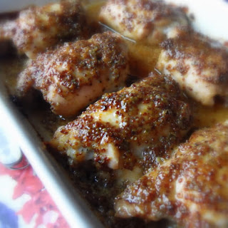 Maple & Mustard Glazed Chicken Thighs Recipe