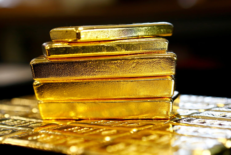 Gold bars are seen at the Austrian Gold and Silver Separating Plant 'Oegussa' in Vienna, Austria. File Picture: REUTERS/LEONHARD FOEGER