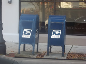 Photo: Mailboxes are very exciting, Manasseh was super excited to discover 2 of them.