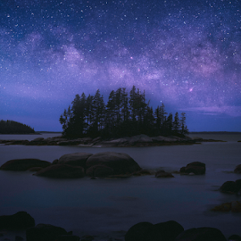 Fantasy Island by Robert Fawcett - Digital Art Places ( maine, milky way, places, night, travel, landscape )