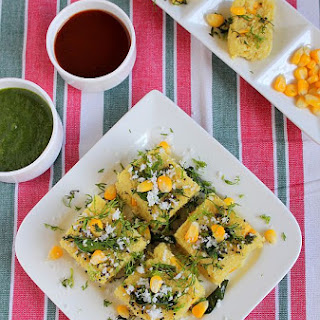 Moong Dal Corn Dhokla Recipe | Gujarati Snacks