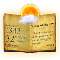Holy Bible Widget with Weather icon