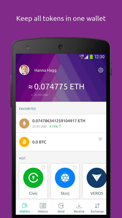Freewallet: Ethereum Token Wallet & ICO- screenshot