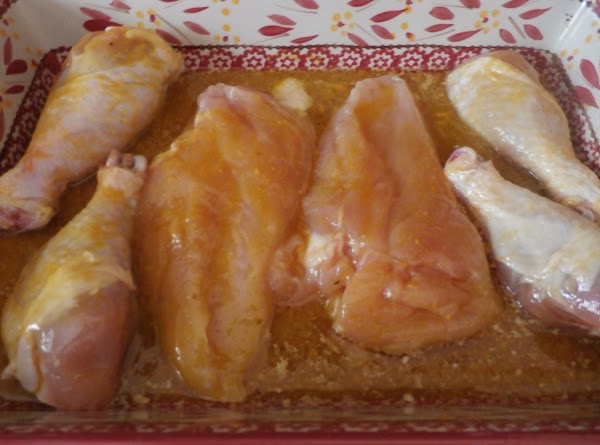 Rinse chicken pieces, pat them dry and remove skin if you wish. Melt the...