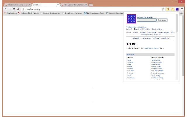 The Conjugator Extension Chrome Web Store