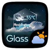 Glass GO Weather Widget Theme