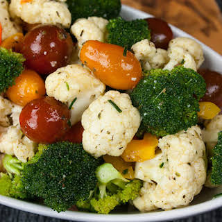 Healthy Marinated Fresh Vegetable Salad.