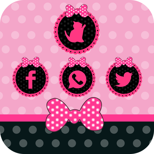 Pink cute girl bow theme love (app)
