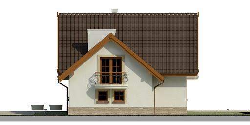 Dom przy Cyprysowej 37 - Elewacja prawa