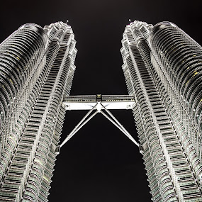 Petronas Twin Tower by Nicholas  H - Buildings & Architecture Architectural Detail ( , shapes geometric patterns , looking, up, images, sky, open, contest, challenge )