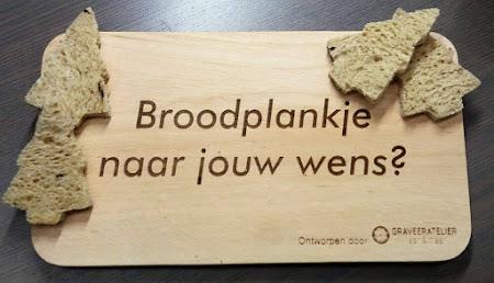 Hout - broodplankje met tekst of afbeelding naar keuze