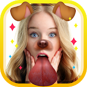 Snap Upload - Dog Face Sticker