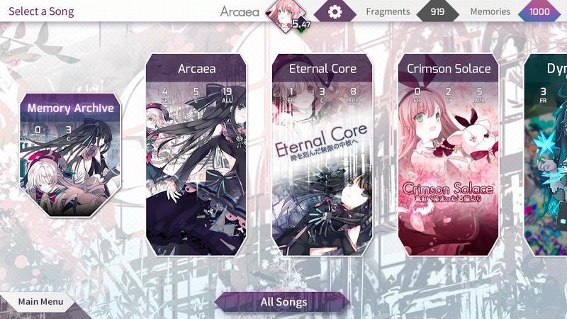 Arcaea - New Dimension Rhythm Game Screenshot 3