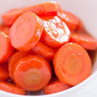Blood Orange Glazed Carrots.