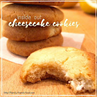 Inside-out cheesecake cookies for Shavuot.