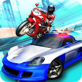 Bandit Rider 3D: smash cops racing