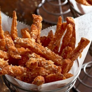 Parmesan-Pepper Sweet Potato Fries