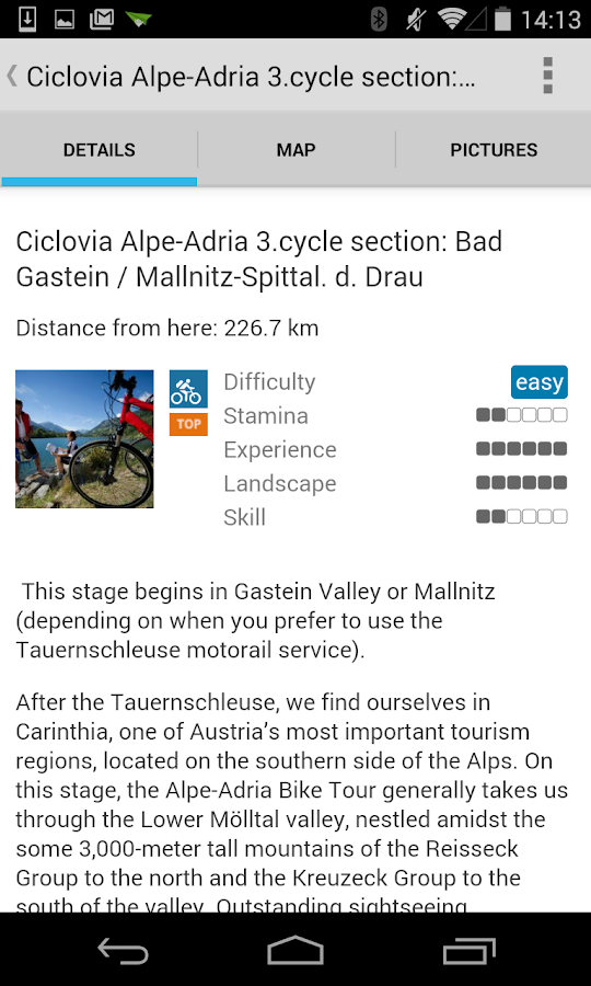 Alpe Adria Biketour- screenshot