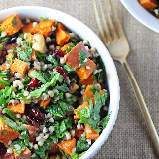 Buckwheat Autumn Salad with Sweet Potato and Cranberries