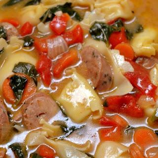 Cheese Tortellini & Chicken Sausage Soup
