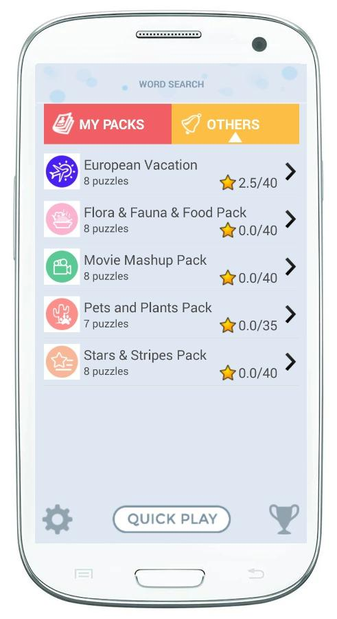 Скриншот WOSEGA - Word Search Game