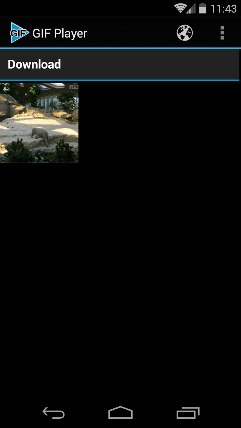 Скриншот GIF Player