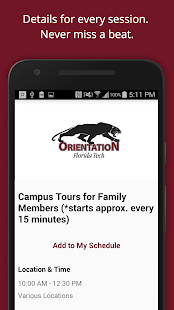 Florida Tech Orientation- screenshot thumbnail