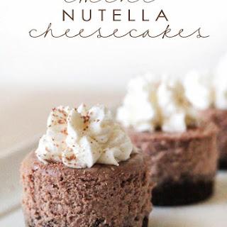 Mini Nutella Cheesecakes.