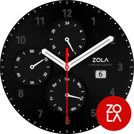 Modern Black Watch Face