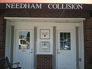 Photo: Needham Collision, Inc. in Needham, MA proudly displaying their BBB Accreditation