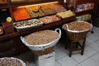 Photo: Day 104 - In the Egyptian Spice Bazaar - Baskets of Pot Pourri
