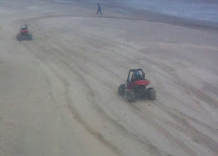 Photo: More beach life with buggy rides on the sand dunes, hopefully not dropping as many fluids as the donkeys..