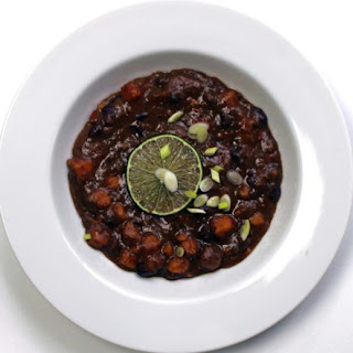 Vegan Black Bean and Sweet Potato Soup