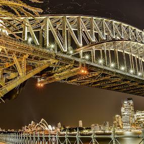 Sydney City by Lim Keng - City,  Street & Park  Night