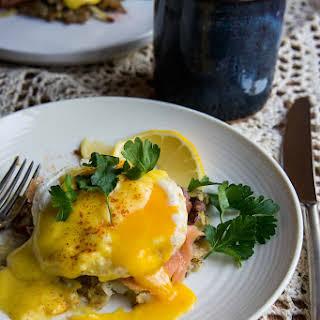 Hearty Eggs Benedict.