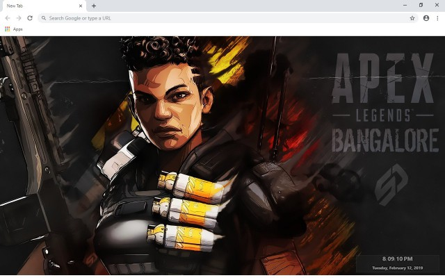 Apex Legends Bangalore New Tab Theme