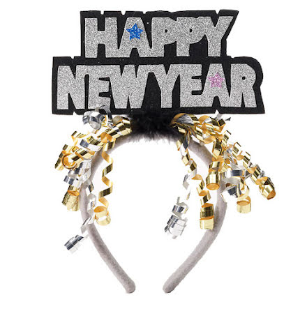 Diadem, happy new year silver