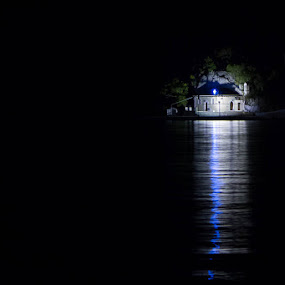 Good Night by Alin Miu - Landscapes Waterscapes ( water, reflection, waterscape, night, island, nightscape )