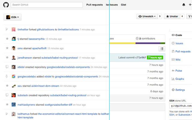 gFaceee for better GitHub UI