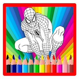 Coloring Book for the amazing spider hero
